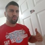 Steven J. Baldassari (Owner of American Patriots Apparel) Wearing Say No To Masks Say Yes To Freedom T-Shirt