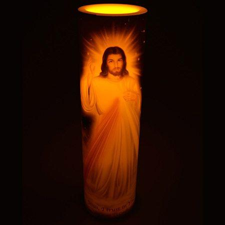 american patriots apparel candle one size red white blue divine mercy led flameless candle 27953033347174