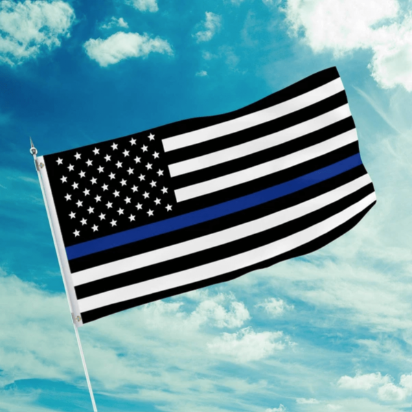 american patriots apparel flag 3 by 5 foot thin blue line flag 15472807149670