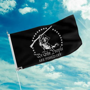 american patriots apparel flag 3 x 5 black white we the people are p d off flag 16032703709286
