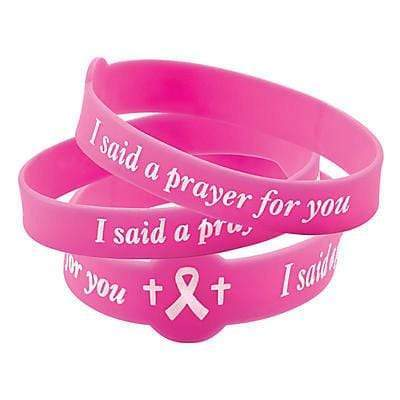 american patriots apparel wristband one size pink i pray for you breast cancer silicone bracelet pink 27953060708454