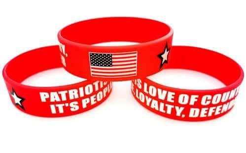 american patriots apparel wristband one size red patriotism is silicone bracelet with usa flag 27952999465062