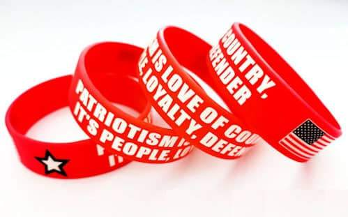 american patriots apparel wristband one size red patriotism is silicone bracelet with usa flag 27952999530598