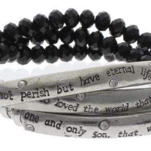 american patriots apparel wristband one size silver black black silver lord s prayer wrap bracelet 8495 27953075683430