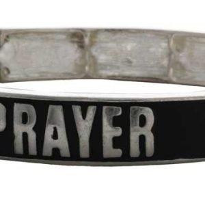 american patriots apparel wristband one size silver black prayer is the answer bracelets silver black 27953068769382