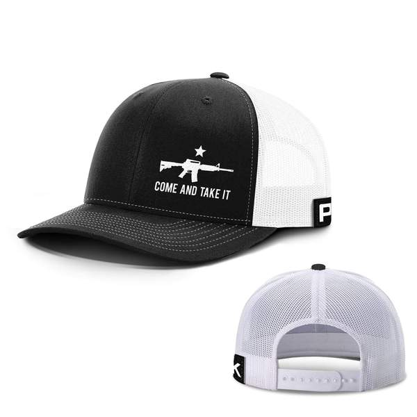 Come and Take It Lower Left Snapback Hat (18 Variants)