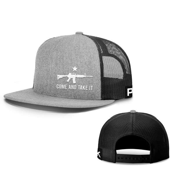 Come and Take It Lower Left Snapback Flatbill Hat (7 Variants)
