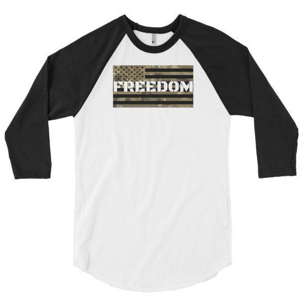mens 34 sleeve raglan shirt white black 6059eaf3ea6ee