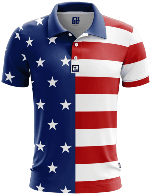 USA Flag Polo