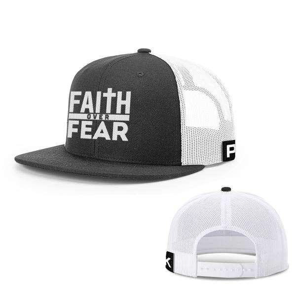 Faith Over Fear Snapback Flatbill Hat (7 Variants)