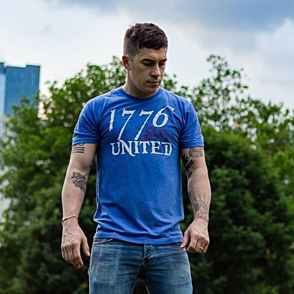 1776 United Logo Tee (Limited) T-Shirt On Man American Patriots Apparel