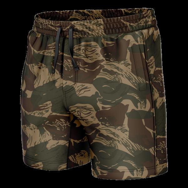 Brushstroke Camo Shorty Swim Trunks - American Patriots Apparel