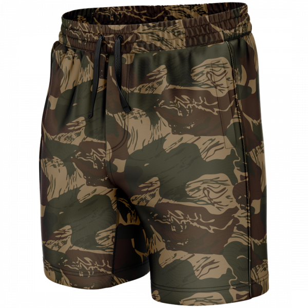 Brushstroke Camo Long Swim Trunks - American Patriots Apparel