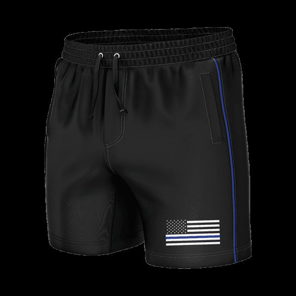 Thin Blue Line Shorty Swim Trunks - American Patriots Apparel