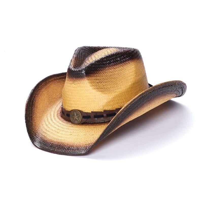 Toyo Straw Western Hat With Lone Star