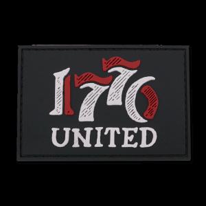 1776 UNITED RETRO LOGO PVC PATCH American Patriots Apparel
