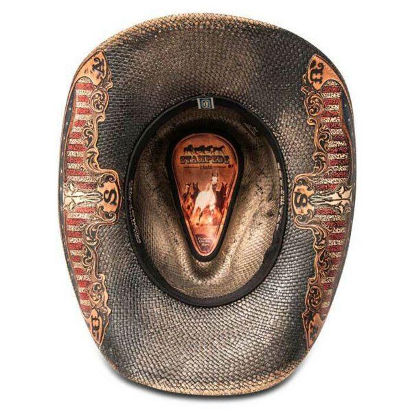 Stampede Hats Black Star USA Cowboy Hat HatsUnlimited.com Hats Unlimited California Hat Company CA1918 Black Botton Inside 68859.1575325873.1280.1280 90580.1609274971
