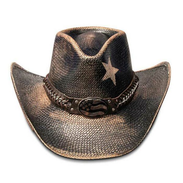 Stampede Hats Black Star USA Cowboy Hat HatsUnlimited.com Hats Unlimited California Hat Company CA1918 Black Front 27704.1575325873.1280.1280 76535.1609274971