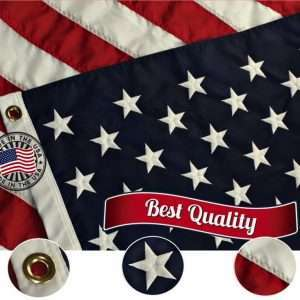 Embroidered Made in USA American Flag