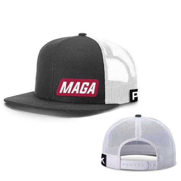 maga lower left hats hat snapback flatbill black and white one size 13613390659635 600x