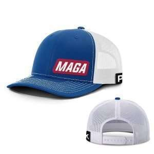 maga lower left hats hat snapback royal blue and white one size 13613383680051 600x