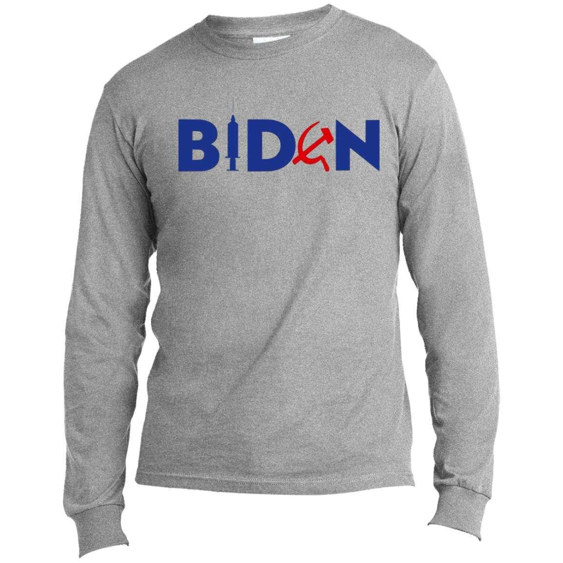 Biden Commie Vaccinator Long Sleeve T-Shirt (4 Variants)