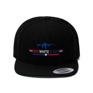 AR15 Red White And Pew Snapback Hat