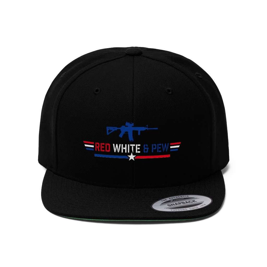 AR15 Red White And Pew Snapback Hat (5 Variants)