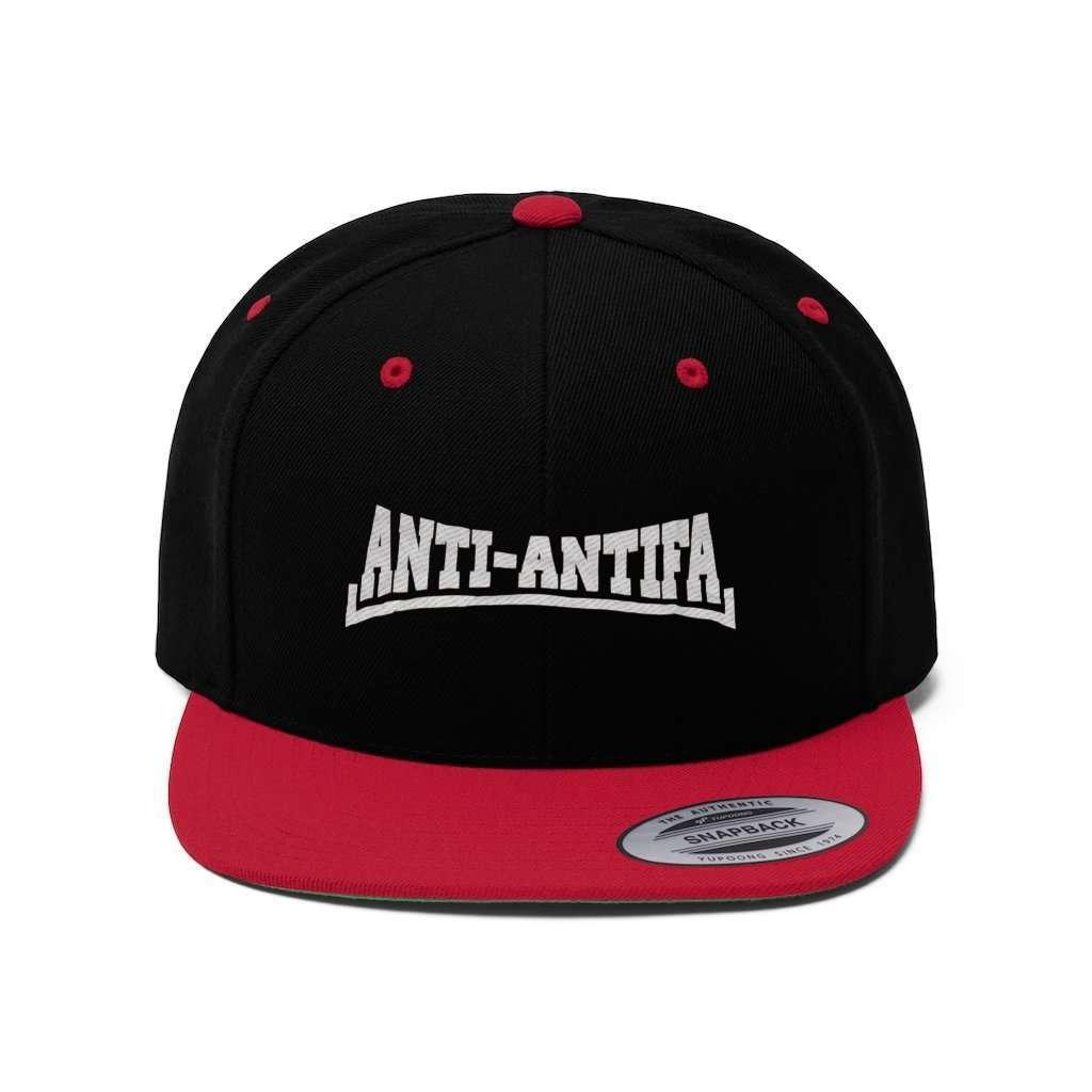 Anti-Antifa White Text Snapback Hat (5 Variants)