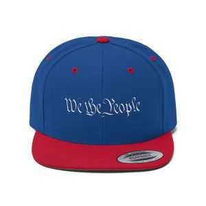 We The People White Text Snapback Hat