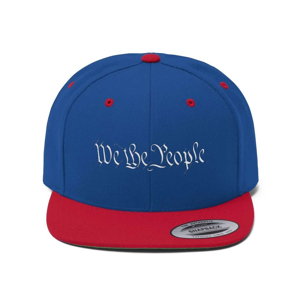 We The People White Text Snapback Hat (5 Variants)