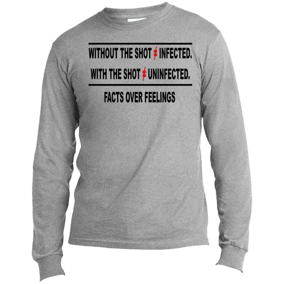 With Or Without The Shot Facts Over Feelings Long Sleeve V2 T Shirt (4 Variants)