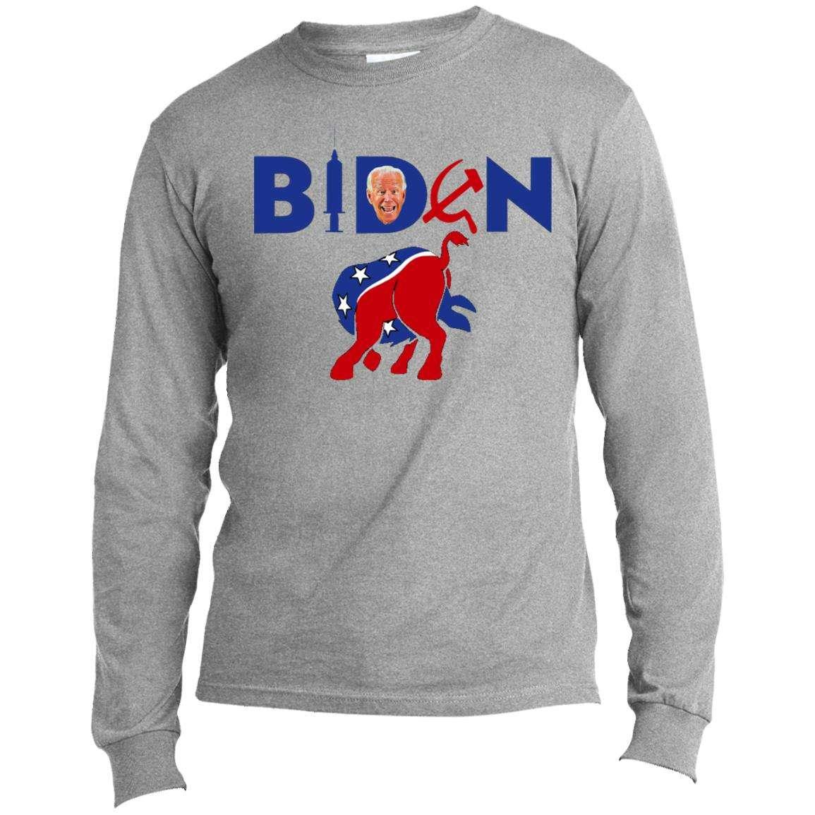 Biden Commie Vaccinator Jackass Long Sleeve T Shirt (4 Variants)