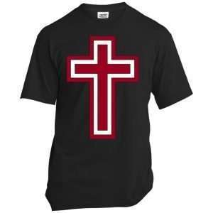 Red and White Cross T Shirt